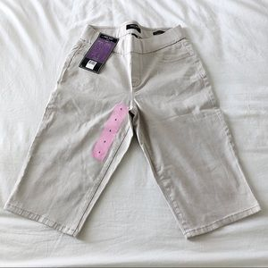 NWT Nine West Hedi Pull On Skimmer Pants Size 6